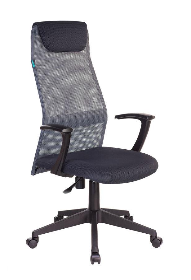 Кресло руководителя БЮРОКРАТ KB-8N, на колесиках, сетка, серый [kb-8n/dg/tw-12]