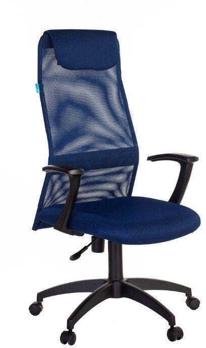 Кресло руководителя БЮРОКРАТ KB-8N, на колесиках, сетка, синий [kb-8n/db/tw-10n]