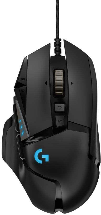 Мышь LOGITECH G502 RGB Tunable HERO, проводная, USB, черный
