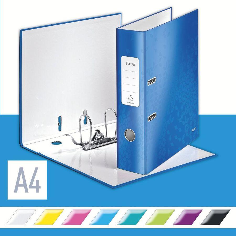 Папка-регистратор Esselte Leitz WOW 10050036 A4 80мм голубой 180 градусов