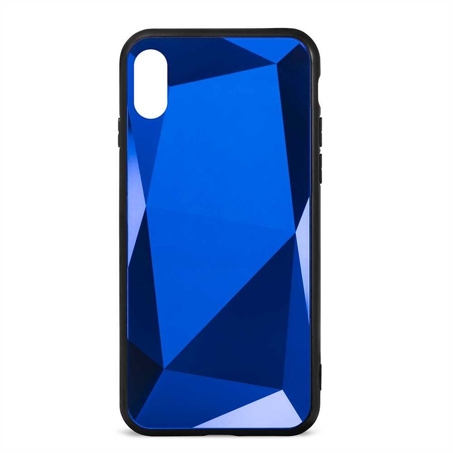 Чехол (клип-кейс)  Gresso Даймонд, для Apple iPhone X/XS, синий [gr17dmn031]