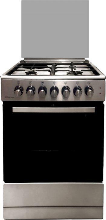 Газовая плита DE LUXE 606031.12гэ 000,  электрическая духовка,  нержавеющая сталь