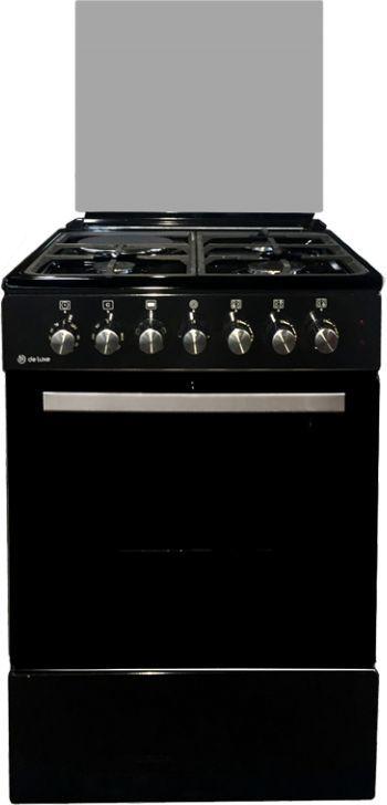 Газовая плита DE LUXE 606031.12гэ 003,  электрическая духовка,  черный