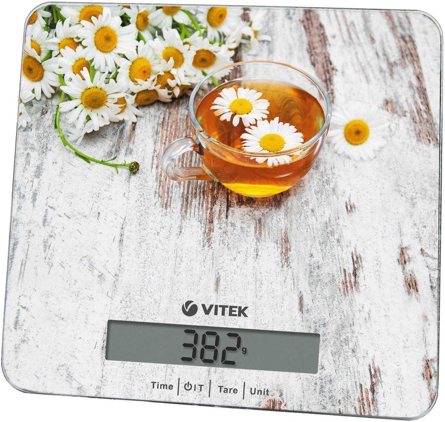 Весы кухонные VITEK VT-8008,  рисунок/цветы
