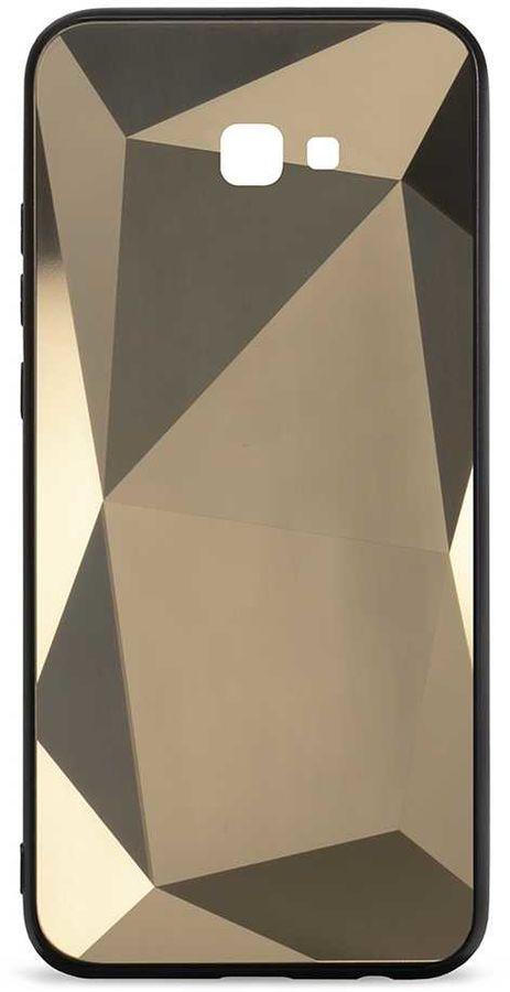 Чехол (клип-кейс)  Gresso Даймонд, для Samsung Galaxy J4+ (2018), золотистый [gr17dmn003]