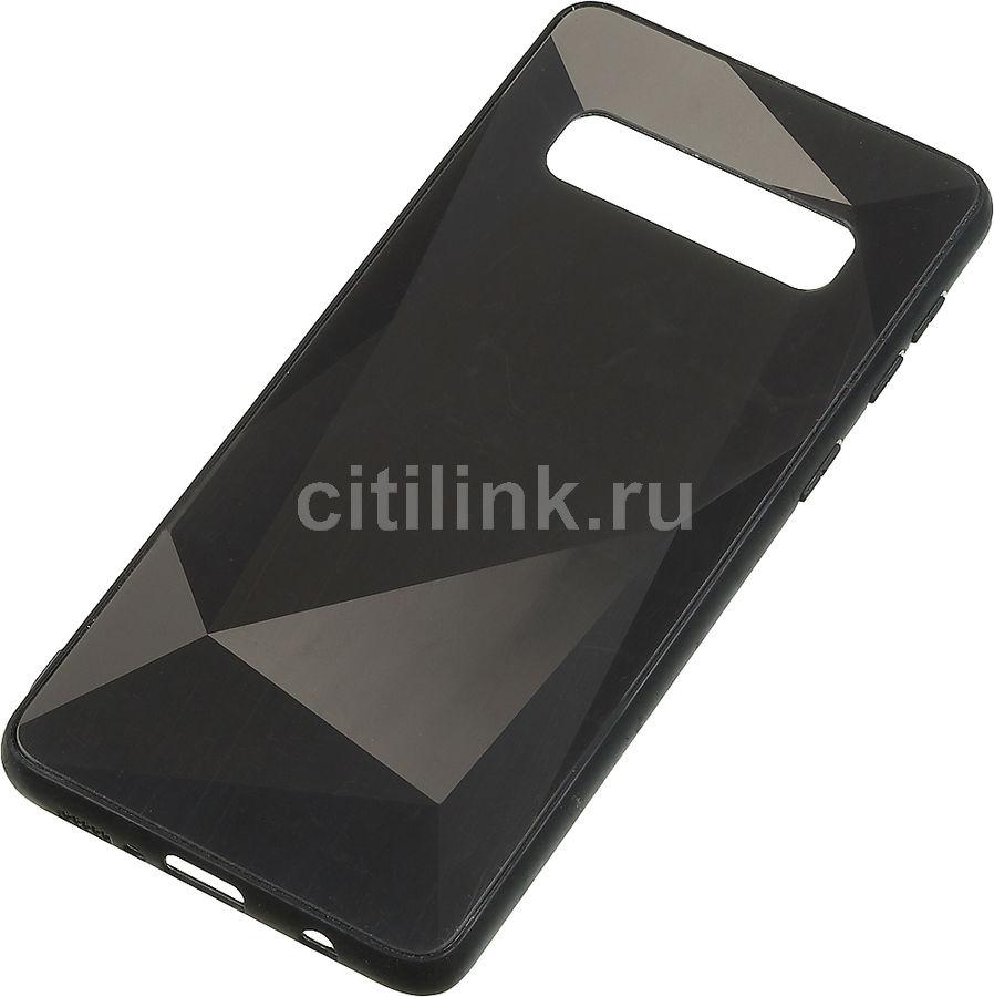 Чехол (клип-кейс) GRESSO Даймонд, для Samsung Galaxy S10, черный [gr17dmn008]