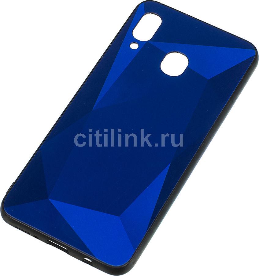 Чехол (клип-кейс)  Gresso Даймонд, для Samsung Galaxy A30, синий [gr17dmn014]