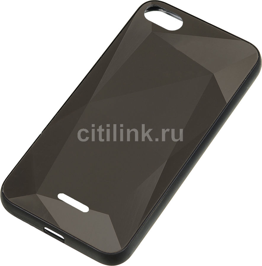 Чехол (клип-кейс) GRESSO Gresso Даймонд, для Xiaomi Redmi 6A, черный [gr17dmn032]