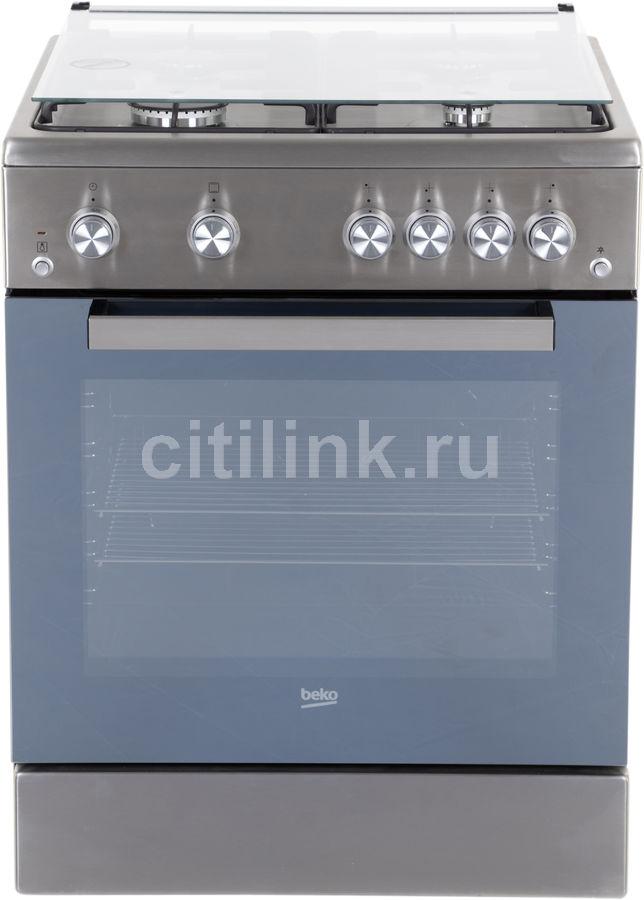Газовая плита BEKO FSG62120DXMCS,  газовая духовка,  нержавеющая сталь