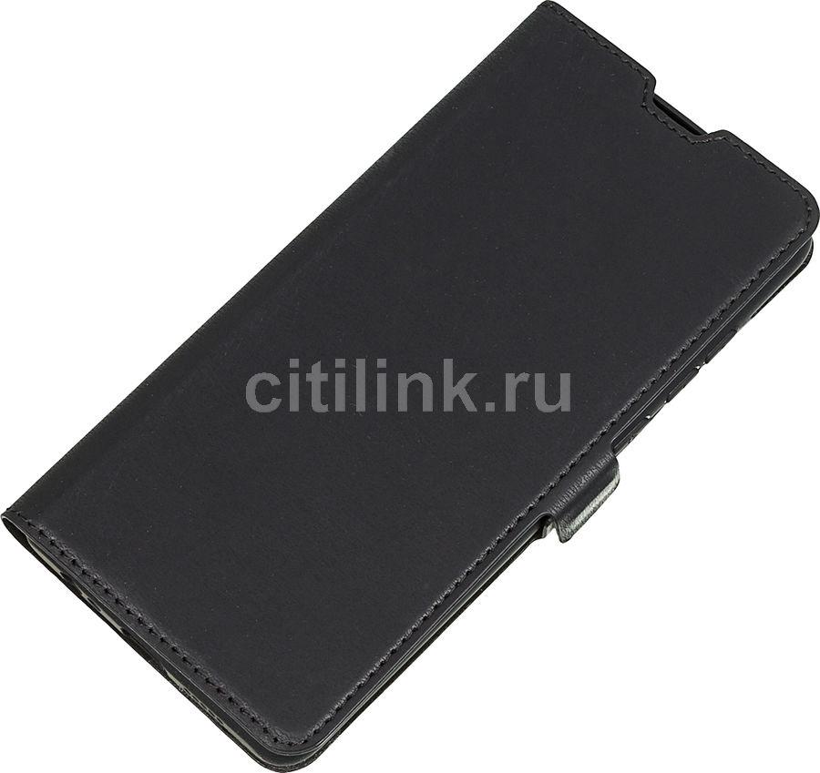 Чехол (флип-кейс) DF hwFlip-62, для Huawei P30, черный