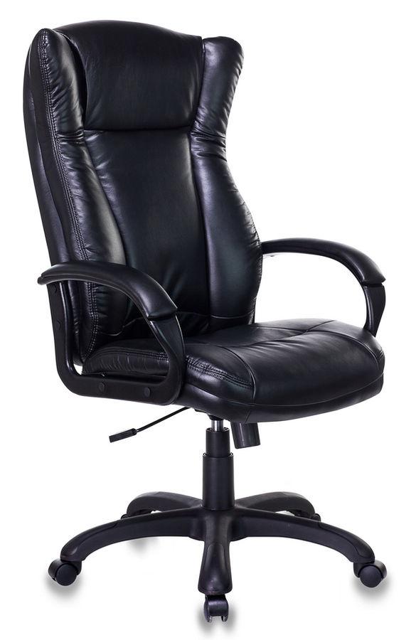 Кресло руководителя БЮРОКРАТ CH-879LT, на колесиках, искусственная кожа, черный [ch-879lt/black]