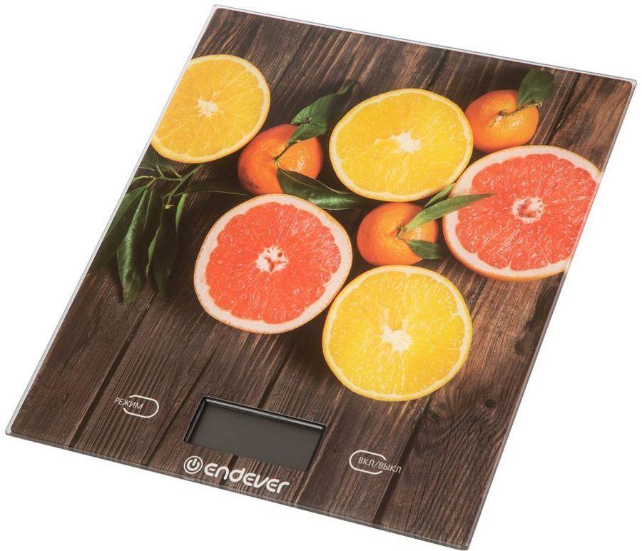Весы кухонные ENDEVER Chief 501,  рисунок/грейпфрут