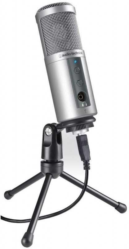Микрофон AUDIO-TECHNICA ATR2500USB,  серебристый [15119896]