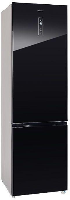 Холодильник HIBERG RFC-392D NFGB,  двухкамерный, черное стекло