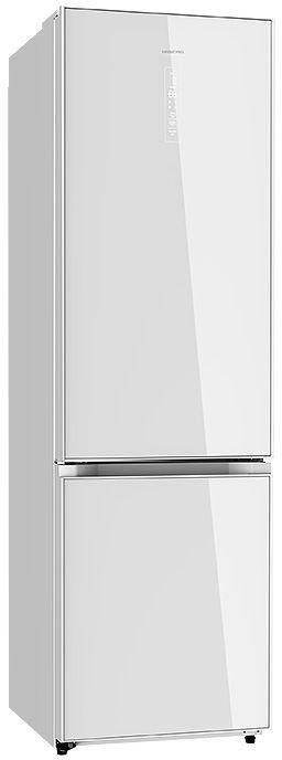 Холодильник HIBERG RFC-392D NFGW,  двухкамерный, белое стекло