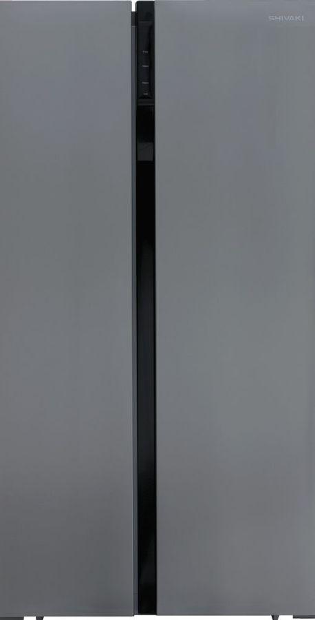 Холодильник SHIVAKI SBS-572DNFX,  двухкамерный, нержавеющая сталь