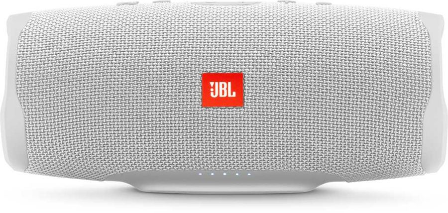 Портативная колонка JBL Charge 4 + наушники JBLT110BTBLU,  30Вт, белый