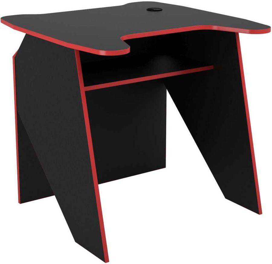 Стол игровой  ВИТАЛ-ПК Скилл,  ЛДСП,  черный