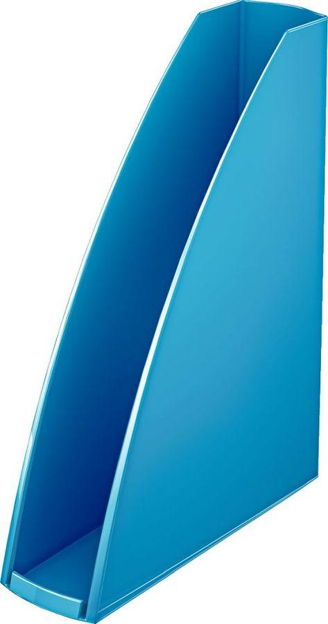 Лоток вертикальный Esselte 52771036 Leitz WOW A4 75x312x258мм синий металлик полистирол
