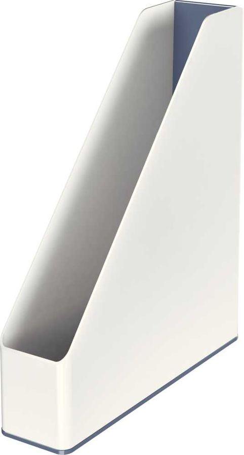 Лоток горизонтальный Esselte 53621001 Leitz WOW A4 73x318x272мм белый/серый полистирол