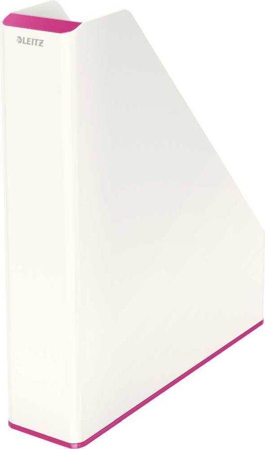 Лоток вертикальный Esselte 53621023 Leitz WOW A4 73x318x272мм розовый металлик/белый полистирол