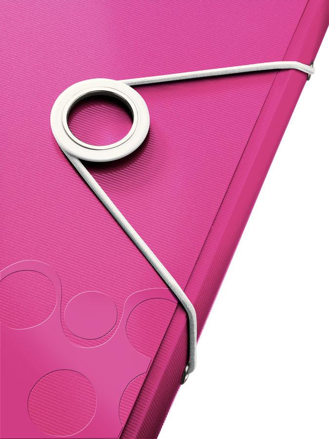 Папка на резинке Esselte Leitz WOW 45990023 1 отдел. A4 полипропилен розовый вмест.:150лист.
