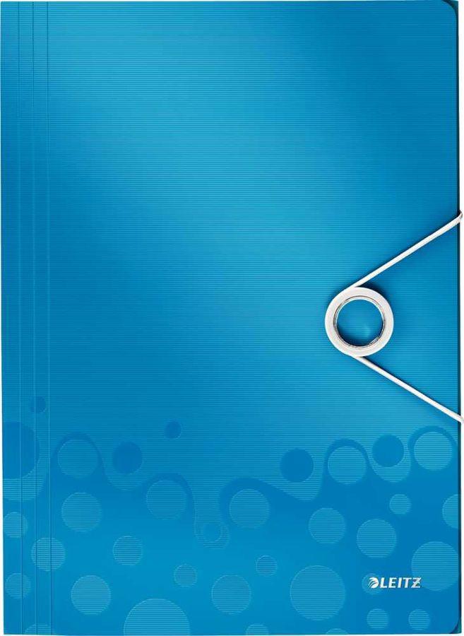 Папка на резинке Esselte Leitz WOW 45990036 1 отдел. A4 полипропилен синий вмест.:150лист.