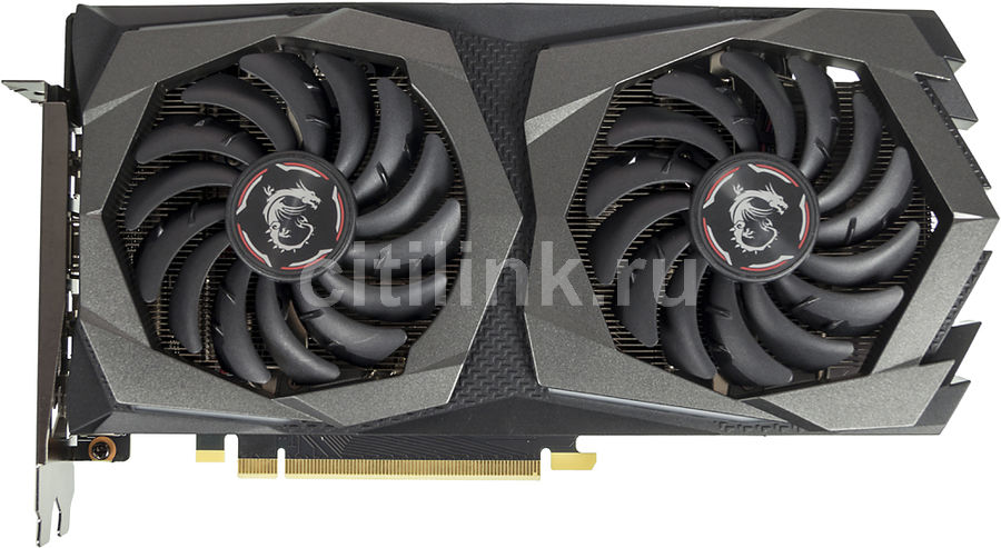 Видеокарта MSI nVidia  GeForce GTX 1660TI ,  GTX 1660 Ti GAMING 6G,  6Гб, GDDR6, Ret
