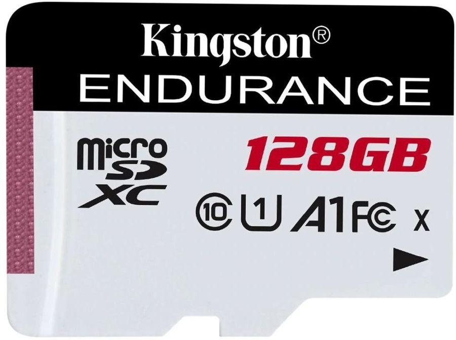 Карта памяти microSDXC UHS-I U1 KINGSTON High Endurance 128 ГБ, 95 МБ/с, Class 10, SDCE/128GB,  1 шт.