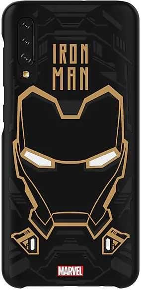 Чехол (клип-кейс) SAMSUNG Marvel Case Iron man, для Samsung Galaxy A50, черный [gp-fga505hibbw]