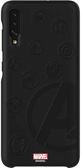 Чехол (клип-кейс) SAMSUNG Marvel Case Avengers4, для Samsung Galaxy A70, черный [gp-fga705hiajw]