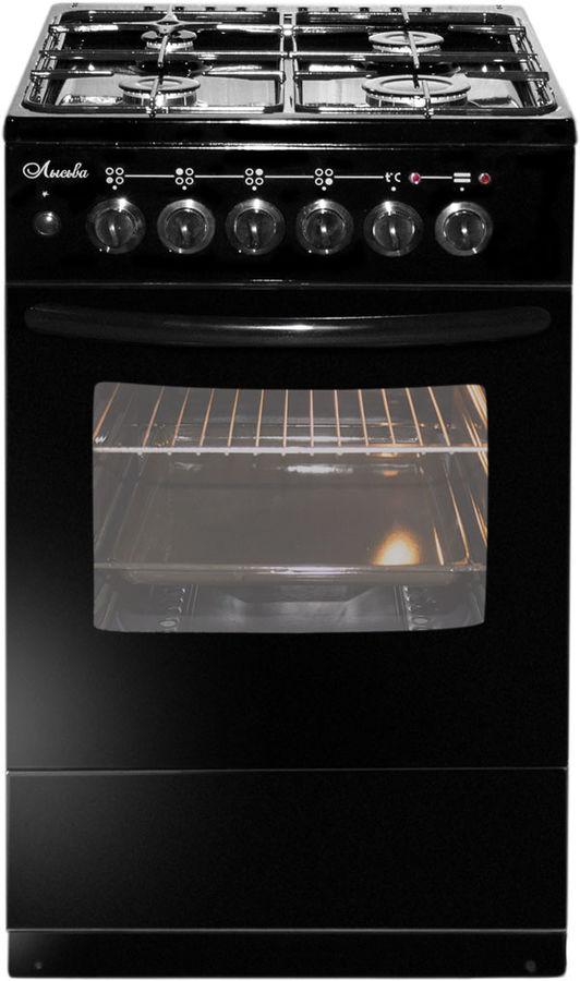Газовая плита ЛЫСЬВА ЭГ 401 М2С-2у,  электрическая духовка,  черный