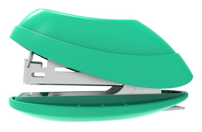 Степлер Deli E0220F Explora N10 (15листов) встроенный антистеплер ассорти
