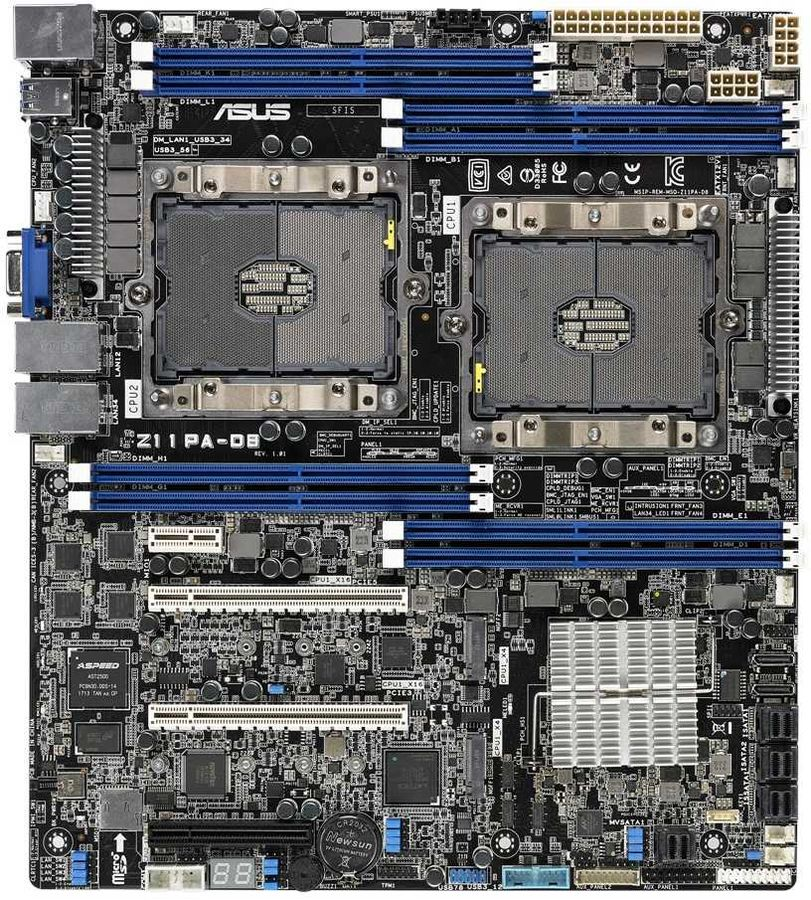 Серверная материнская плата ASUS Z11PA-D8,  Ret [90sb06h0-m0uay0]