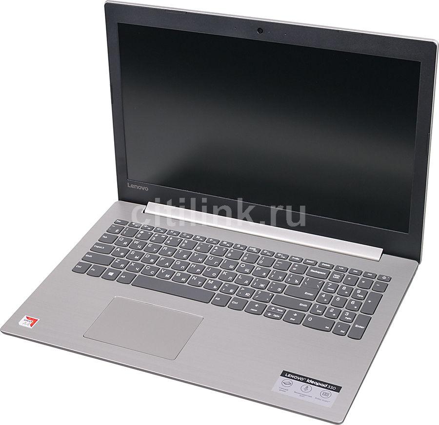"""Ноутбук LENOVO IdeaPad 330-15AST, 15.6"""",  AMD  A4  9125 2.3ГГц, 4Гб, 500Гб,  AMD Radeon  R3, Free DOS, 81D600R6RU,  серый"""