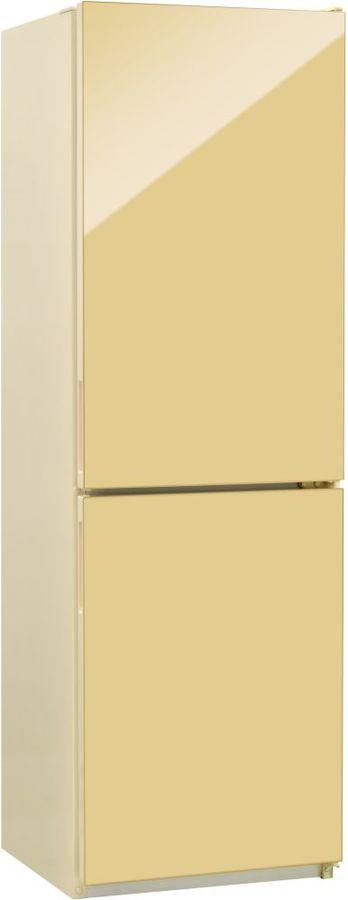 Холодильник NORDFROST NRG 119 742,  двухкамерный, бежевый стекло [00000256616]
