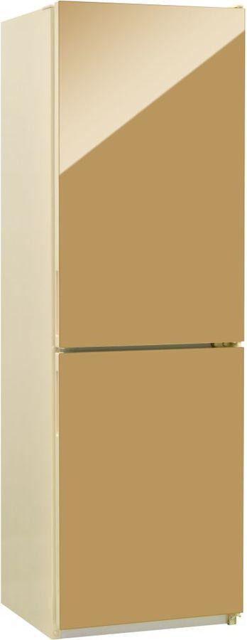 Холодильник NORDFROST NRG 119 542,  двухкамерный, золотистый стекло [00000256614]