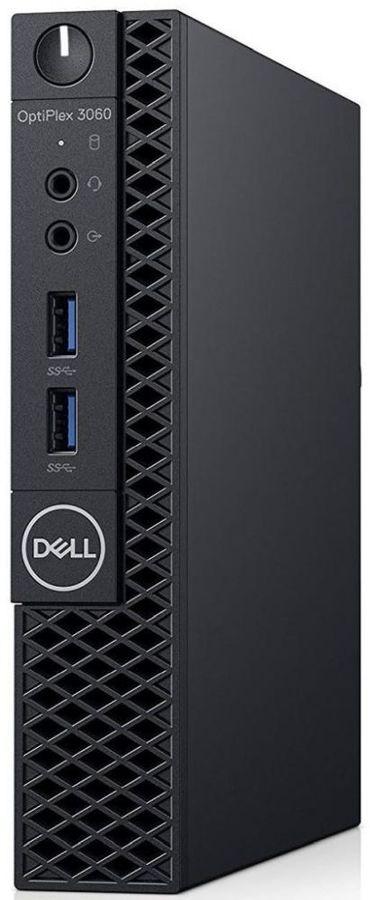 Компьютер  DELL Optiplex 3060,  Intel  Core i3  8100T,  DDR4 8Гб, 128Гб(SSD),  Intel UHD Graphics 630,  Linux Ubuntu,  черный [3060-1260]