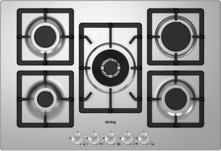 Варочная панель KORTING HG797CTX,  независимая,  нержавеющая сталь