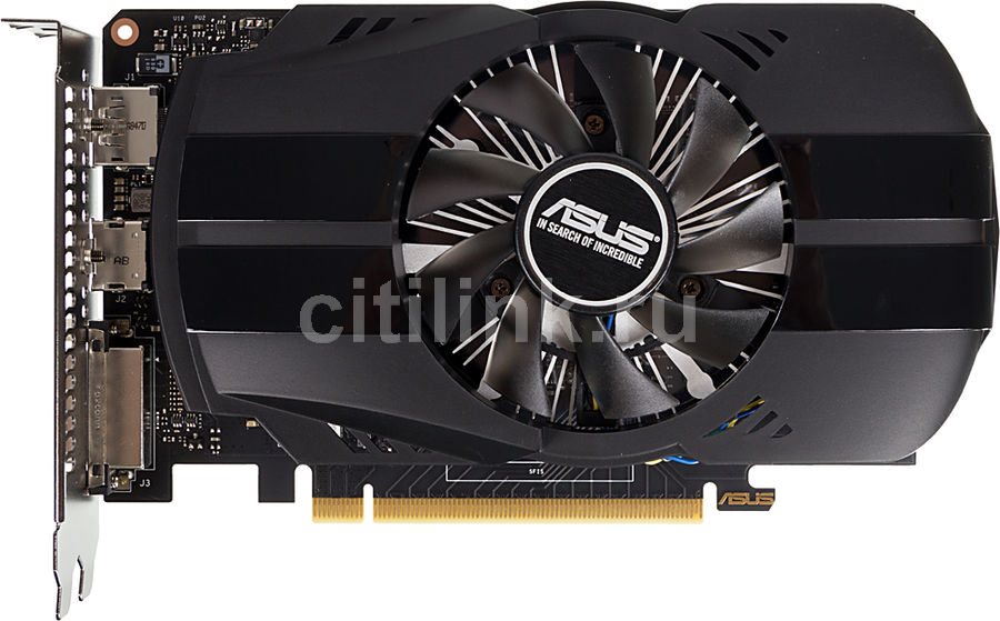 Видеокарта ASUS nVidia  GeForce GTX 1650 ,  PH-GTX1650-4G,  4Гб, GDDR5, Ret