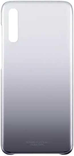 Чехол (клип-кейс) SAMSUNG Gradation Cover, для Samsung Galaxy A70, черный [ef-aa705cbegru]