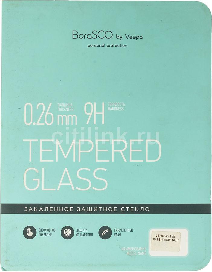 """Защитное стекло  Borasco  для Lenovo Tab 10 TB-X103F,  10.1"""", 167 х 243 мм, 1 шт [36661]"""
