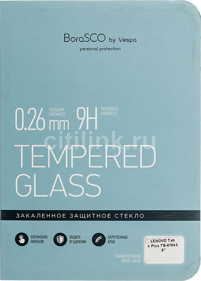 """Защитное стекло  Borasco  для Lenovo Tab 4 Plus TB-8704X,  8"""", 116 х 203 мм, 1 шт [36663]"""
