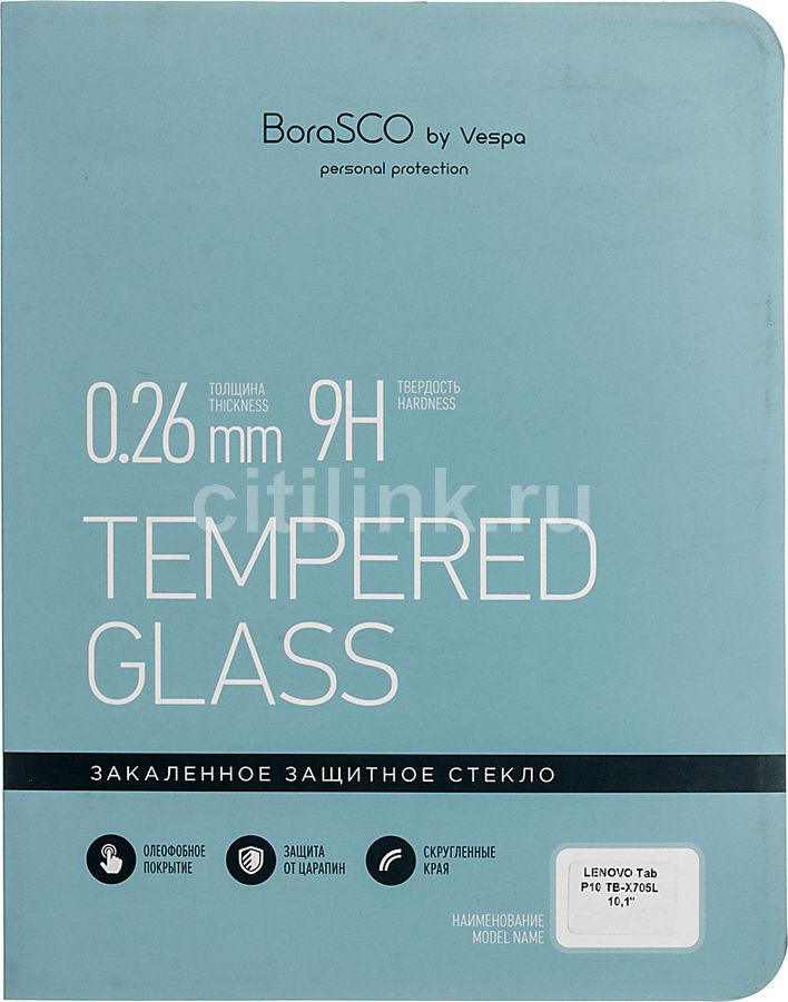 """Защитное стекло  Borasco  для Lenovo Tab P10 TB-X705L,  10.1"""", 160 х 236 мм, 1 шт [36665]"""