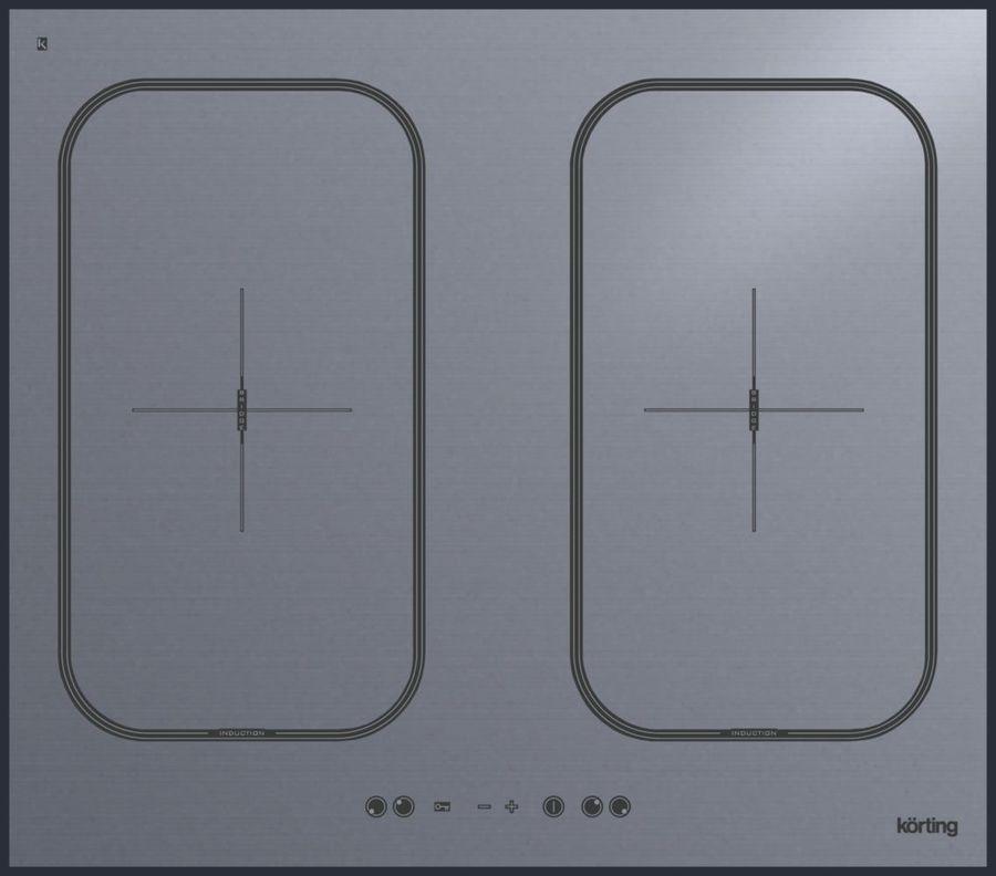 Варочная панель KORTING HIB6409BS,  индукционная,  независимая,  серый