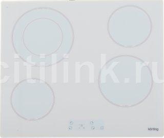 Варочная панель KORTING HK62001BW,  Hi-Light,  независимая,  белый