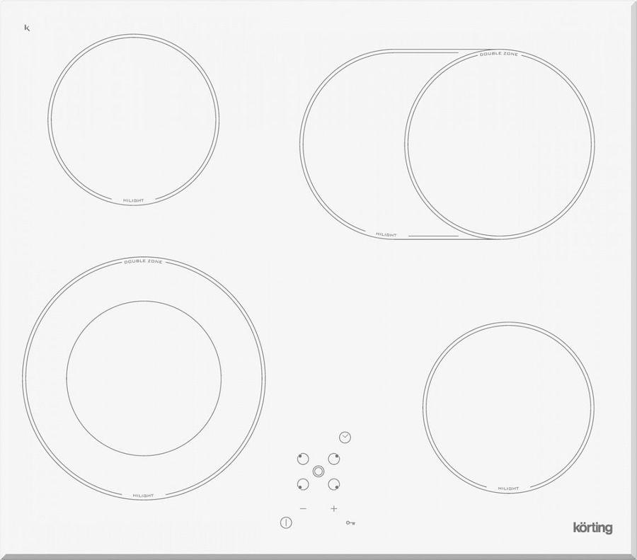 Варочная панель KORTING HK62051BW,  Hi-Light,  независимая,  белый