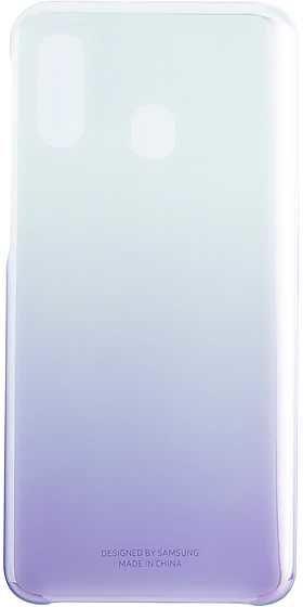 Чехол (клип-кейс) SAMSUNG Gradation Cover, для Samsung Galaxy A40, фиолетовый [ef-aa405cvegru]