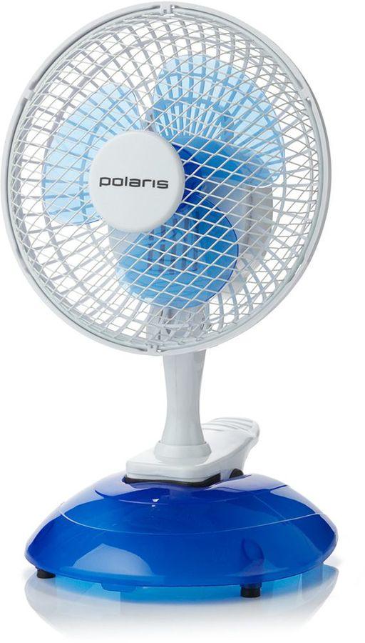 Вентилятор настольный POLARIS PCF,  белый и синий [pcf 15w]