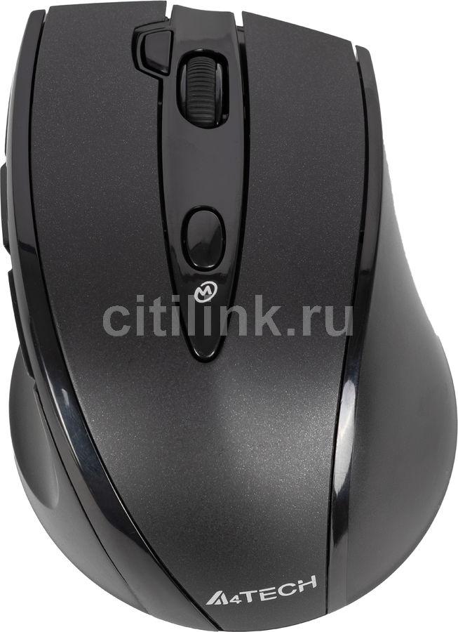 Мышь A4 V-Track G10-770F, оптическая, беспроводная, USB, черный